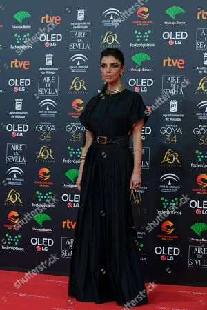 Spanish actress Maribel Verdu poses for photographers at the red carpet ahead the Goya Film Awards Ceremony in Malaga, southern Spain, . The annual Goya Awards are Spain's main national film awards