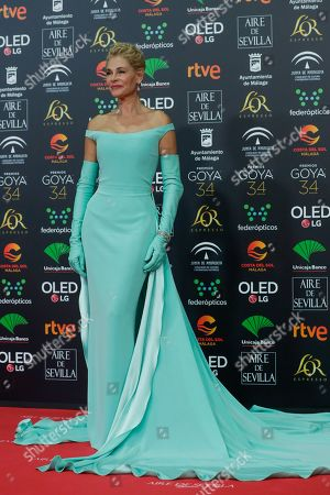 Spanish actress Belen Rueda poses for photographers at the red carpet ahead the Goya Film Awards Ceremony in Malaga, southern Spain,. The annual Goya Awards are Spain's main national film awards