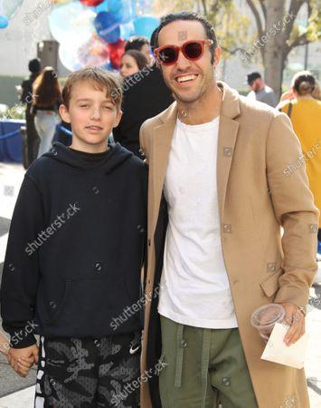 Stock Photo of Pete Wentz and son Bronx Wentz