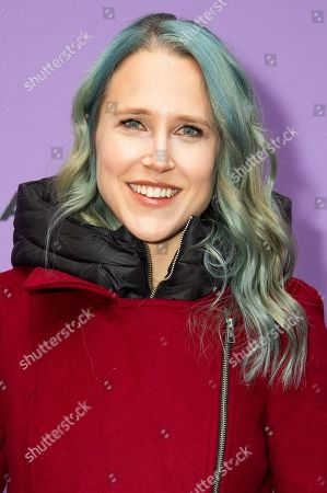 "Stock Image of Josephine Decker attends the premiere of ""Shirley"" at the Eccles Theatre during the 2020 Sundance Film Festival, in Park City, Utah"
