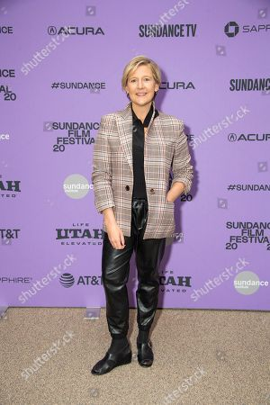 """Sue Naegle attends the premiere of """"Shirley"""" at the Eccles Theatre during the 2020 Sundance Film Festival, in Park City, Utah"""