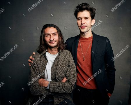"Aneil Karia, Ben Whishaw. Director Aneil Karia, left, and Ben Whishaw pose for a portrait to promote the film ""Surge"" at the Music Lodge during the Sundance Film Festival, in Park City, Utah"