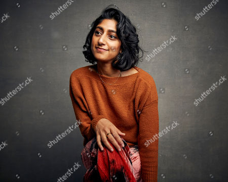 """Sunita Mani poses for a portrait to promote the film """"Save Yourselves!"""" at the Music Lodge during the Sundance Film Festival, in Park City, Utah"""