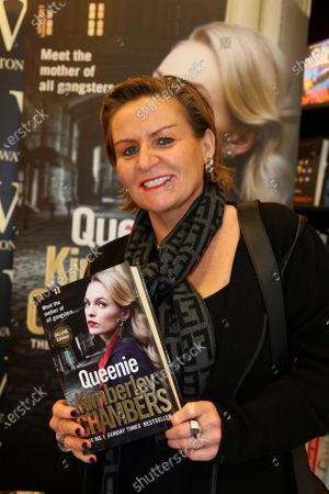 Kimberley Chambers signs copies of her book at Waterstones bookshop in Romford