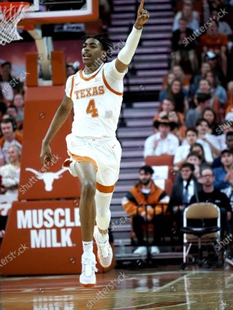 Donovan Williams #4 of the Texas Longhorns in action vs the LSU Tigers at the Frank Erwin Center in Austin Texas. LSU defeats Texas 69-67