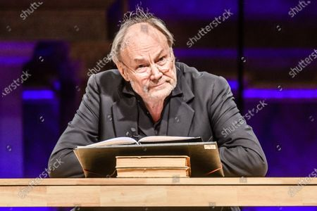 Austrian actor and director Klaus Maria Brandauer reads Dietrich Bonhoeffer texts at the Berlin cathedral in Berlin, Germany, 25 January 2020. On the occasion of the Holocaust remembrance weekend, Austrian actor Klaus Maria Brandauer read texts by Lutheran theologian Dietrich Bonhoeffer, who died in 1945 in the concentration camp Flossenbuerg, mudered by the Nazis. Under the theme 'I want to learn to believe', Brandauer presented Bonhoeffer's texts with musical accompaniment by German cellist Maria Magdalena Wiesmaier.