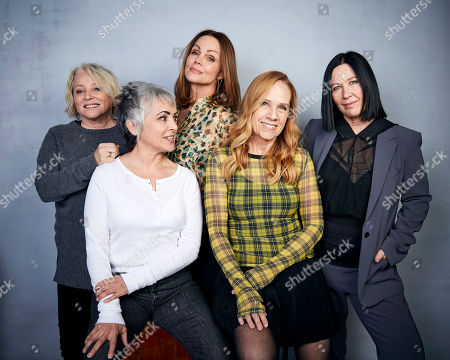 "Stock Image of Gina Schock, Belinda Carlisle, Kathy Valentine, Charlotte Caffey, Jane Wiedlin. Gina Schock, from left, Jane Wiedlin, Belinda Carlisle, Charlotte Caffey and Kathy Valentine pose for a portrait to promote the film ""The Go-Go's"" at the Music Lodge during the Sundance Film Festival, in Park City, Utah"