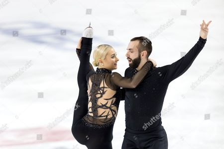 Ashley Cain-Gribble and Timothy LeDuc compete in senior pairs free skate program at the U.S. Figure Skating Championships, in Greensboro, N.C