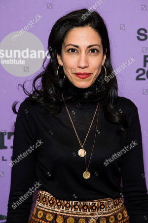 """Huma Abedin attends the premiere of """"Hillary"""" at The Ray Theater during the 2020 Sundance Film Festival, in Park City, Utah"""