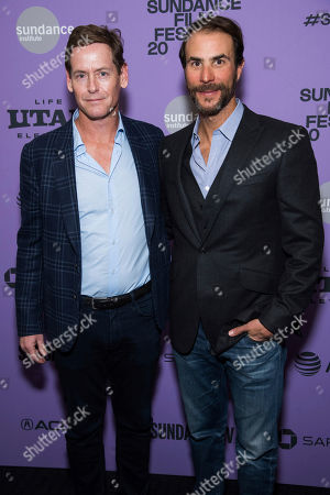 "Howard T. Owens, Benjamin Silverman. Howard T. Owens, left, and Benjamin Silverman attend the premiere of ""Hillary"" at The Ray Theater during the 2020 Sundance Film Festival, in Park City, Utah"