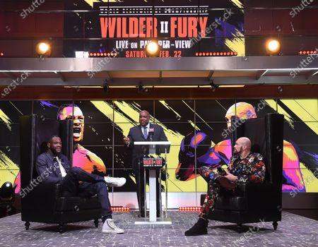 Deontay Wilder, Tyson Fury and Curt Menefee