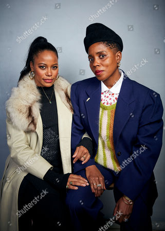 """Taylour Paige, Janicza Bravo. Taylour Paige, left, and writer/director Janicza Bravo pose for a portrait to promote the film """"Zola"""" at the Music Lodge during the Sundance Film Festival, in Park City, Utah"""