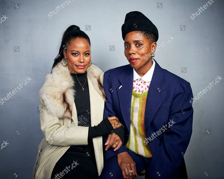 "Stock Photo of Taylour Paige, Janicza Bravo. Taylour Paige, left, and writer/director Janicza Bravo pose for a portrait to promote the film ""Zola"" at the Music Lodge during the Sundance Film Festival, in Park City, Utah"