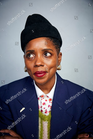 """Stock Picture of Janicza Bravo poses for a portrait to promote the film """"Zola"""" at the Music Lodge during the Sundance Film Festival, in Park City, Utah"""