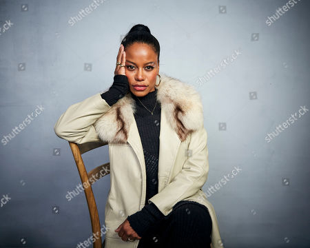 "Stock Image of Taylour Paige poses for a portrait to promote the film ""Zola"" at the Music Lodge during the Sundance Film Festival, in Park City, Utah"