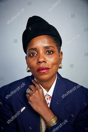 """Stock Image of Janicza Bravo poses for a portrait to promote the film """"Zola"""" at the Music Lodge during the Sundance Film Festival, in Park City, Utah"""