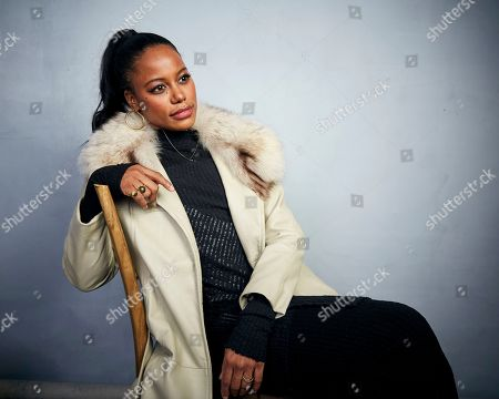 "Stock Picture of Taylour Paige poses for a portrait to promote the film ""Zola"" at the Music Lodge during the Sundance Film Festival, in Park City, Utah"