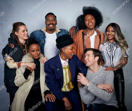 "Riley Keough, Colman Domingo, Jeremy O. Harris, A'Ziah King, Taylour Paige, Janicza Bravo, Nicholas Braun. Riley Keough, from back left, Colman Domingo, Jeremy O. Harris, A'Ziah King, Taylour Paige, from bottom left, writer/director Janicza Bravo, and Nicholas Braun pose for a portrait to promote the film ""Zola"" at the Music Lodge during the Sundance Film Festival, in Park City, Utah"