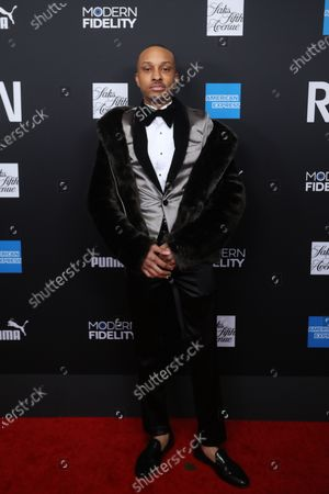 Rashaad Dunn poses on the red carpet at the ROC NATION's'The Brunch' at UCLA in Los Angeles, California, USA, 25 January 2020.