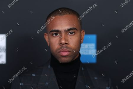 """Vic Mensa poses on the red carpet at the ROC NATION's """"The Brunch"""" at UCLA in Los Angeles, California, USA, 25 January 2020."""