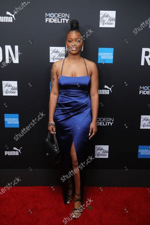 Stock Picture of US musical artist Ari Lennox poses on the red carpet at the ROC NATION's 'The Brunch' at UCLA in Los Angeles, California, USA, 25 January 2020.