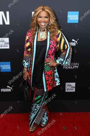 US television producer Mona Scott-Young poses on the red carpet at the ROC NATION's 'The Brunch' at UCLA in Los Angeles, California, USA, 25 January 2020.