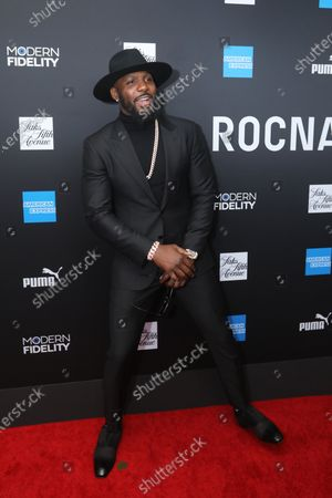 Stock Image of Dez Bryant poses on the red carpet at the ROC NATION's  'The Brunch' at UCLA in Los Angeles, California, USA, 25 January 2020.