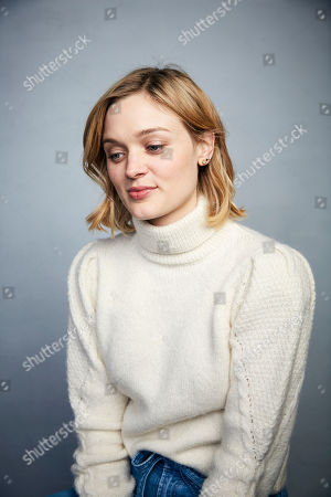 "Bella Heathcote poses for a portrait to promote the film ""Relic"" at the Music Lodge during the Sundance Film Festival, in Park City, Utah"