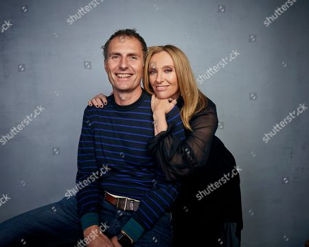 "Euros Lyn, Toni Collette. Director Euros Lyn, left, and Toni Collette pose for a portrait to promote the film ""Dream Horse"" at the Music Lodge during the Sundance Film Festival, in Park City, Utah"