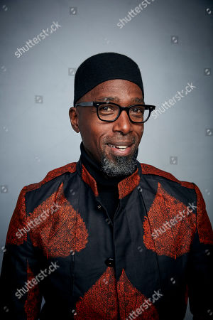 """Ntare Guma Mbaho Mwine poses for a portrait to promote the film """"Farewell Amor"""" at the Music Lodge during the Sundance Film Festival, in Park City, Utah"""