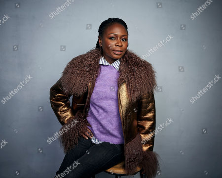 """Zainab Jah poses for a portrait to promote the film """"Farewell Amor"""" at the Music Lodge during the Sundance Film Festival, in Park City, Utah"""