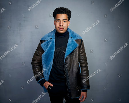 """Marcus Scribner poses for a portrait to promote the film """"Farewell Amor"""" at the Music Lodge during the Sundance Film Festival, in Park City, Utah"""