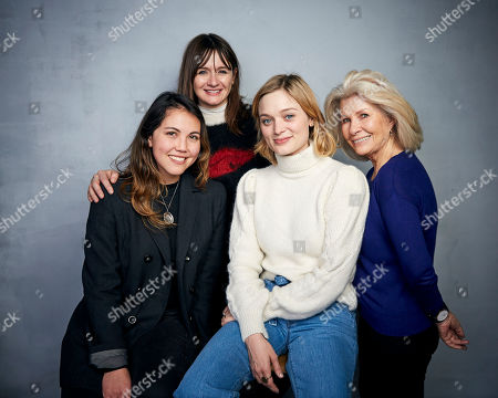 "Natalie Erika James, Emily Mortimer, Bella Heathcote, Robyn Nevin. Writer/director Natalie Erika James, from left, Emily Mortimer, Bella Heathcote, and Robyn Nevin pose for a portrait to promote the film ""Relic"" at the Music Lodge during the Sundance Film Festival, in Park City, Utah"