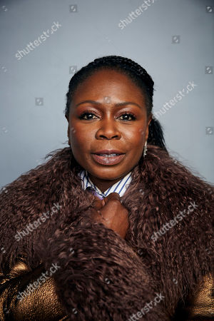 """Stock Picture of Zainab Jah poses for a portrait to promote the film """"Farewell Amor"""" at the Music Lodge during the Sundance Film Festival, in Park City, Utah"""