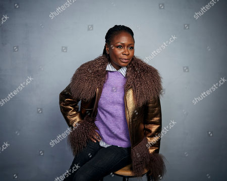 """Stock Photo of Zainab Jah poses for a portrait to promote the film """"Farewell Amor"""" at the Music Lodge during the Sundance Film Festival, in Park City, Utah"""