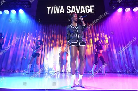 Tiwa Savage perfroms at Sir Lucian Grainge's 2020 Artist Showcase Presented By Citi and Lenovo on in Los Angeles