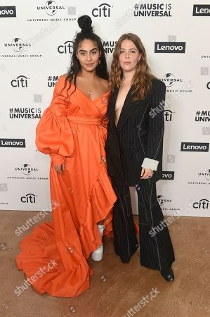 Jessie Reyez, Maggie Rogers. Jessie Reyez and Maggie Rogers attend Sir Lucian Grainge's 2020 Artist Showcase Presented By Citi and Lenovo on in Los Angeles