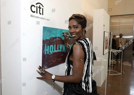 Stock Picture of Tiwa Savage attends Sir Lucian Grainge's 2020 Artist Showcase Presented By Citi and Lenovo on in Los Angeles