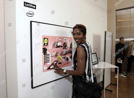 Stock Image of Tiwa Savage attends Sir Lucian Grainge's 2020 Artist Showcase Presented By Citi and Lenovo on in Los Angeles
