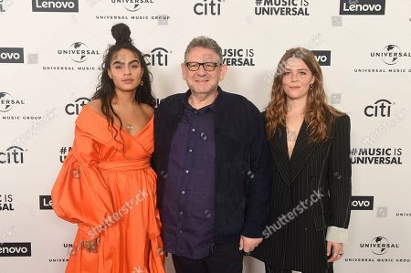 Jessie Reyez, Sir Lucian Grainge, Maggie Rogers. Jessie Reyez, Sir Lucian Grainge UMG CEO and Maggie Rogers attend Sir Lucian Grainge's 2020 Artist Showcase Presented By Citi and Lenovo on in Los Angeles