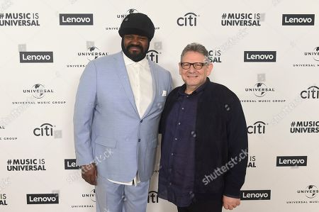 Stock Image of Gregory Porter, Sir Lucian Grainge. Gregory Porter and Sir Lucian Grainge attend Sir Lucian Grainge's 2020 Artist Showcase Presented By Citi and Lenovo on in Los Angeles