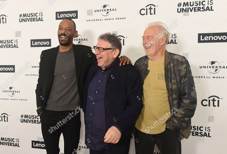 Darcus Beese, Sir Lucian Grainge, Chris Blackwell. Darcus Beese, Sir Lucian Grainge and Chris Blackwell attend Sir Lucian Grainge's 2020 Artist Showcase Presented By Citi and Lenovo on in Los Angeles