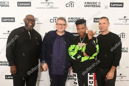 Sipho Diamini, Sir Lucian Grainge UMG CEO, Nasty C, Adam Granite. Sipho Diamini, Sir Lucian Grainge UMG CEO, Nasty C and Adam Granite attend Sir Lucian Grainge's 2020 Artist Showcase Presented By Citi and Lenovo on in Los Angeles