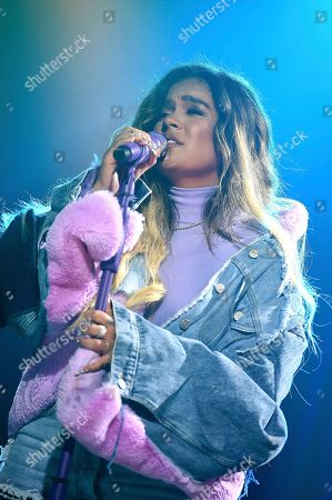 Karol G performs at Sir Lucian Grainge's 2020 Artist Showcase Presented By Citi and Lenovo on in Los Angeles