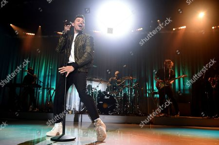 Anthony Ramos performs at Sir Lucian Grainge's 2020 Artist Showcase Presented By Citi and Lenovo on in Los Angeles