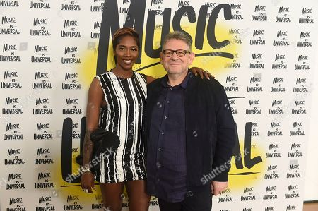 Tiwa Savage, Sir Lucian Grainge. Tiwa Savage and Sir Lucian Grainge UMG CEO attend Sir Lucian Grainge's 2020 Artist Showcase Presented By Citi and Lenovo on in Los Angeles