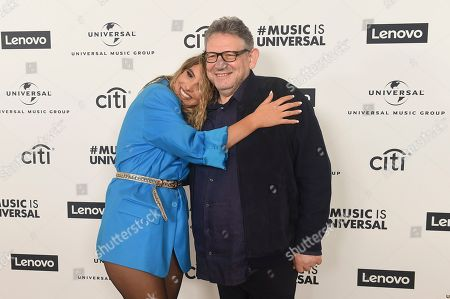 LeLe Pons, Sir Lucian Grainge. LeLe Pons and Sir Lucian Grainge UMG CEO attend Sir Lucian Grainge's 2020 Artist Showcase Presented By Citi and Lenovo on in Los Angeles