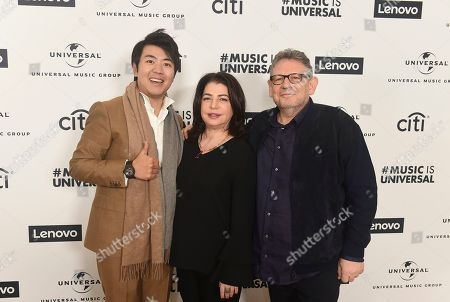 Lang Lang, Michele Anthony, Sir Lucian Grainge. Lang Lang, Michele Anthony UMG EVP and Sir Lucian Grainge UMG CEO attend Sir Lucian Grainge's 2020 Artist Showcase Presented By Citi and Lenovo on in Los Angeles