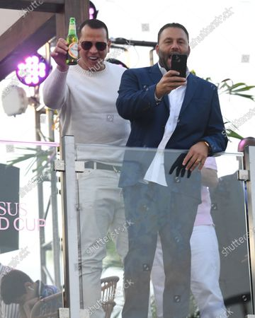 Alex Rodriguez and David Grutman