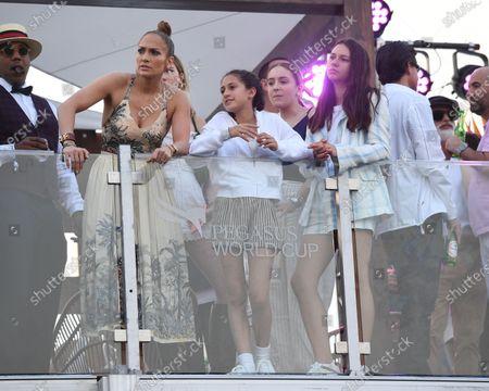 Stock Picture of Jennifer Lopez, Emme Maribel Muniz, Natasha Rodriquez and Alex Rodriguez